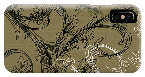 Coffee Flowers 3 Olive IPhone Case