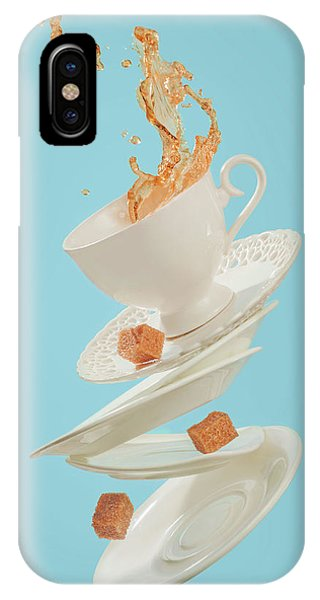 Saucer iPhone Case - Coffee For A Stage Magician by Dina Belenko