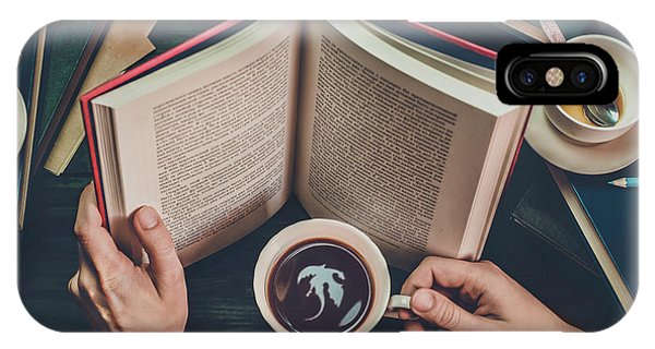 Reading iPhone Case - Coffee For Dreamers by Dina Belenko