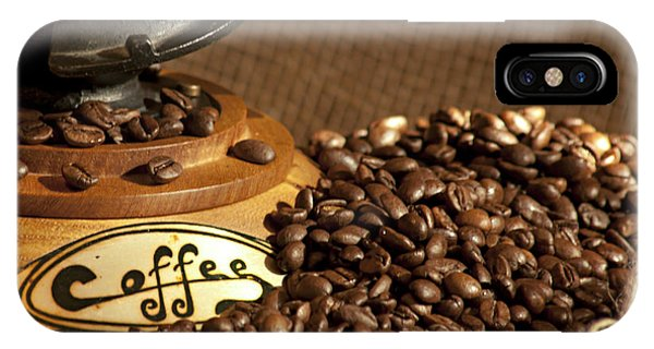 Coffee Grinder With Beans IPhone Case