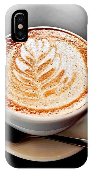 Saucer iPhone Case - Coffee Latte With Foam Art by Elena Elisseeva
