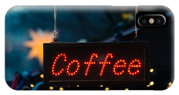 Beverage iPhone Case - Coffee Sign by Dutourdumonde Photography