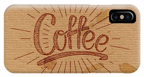 Craft iPhone Case - Coffee. Vector Illustration. Lettering by Maximmmmum