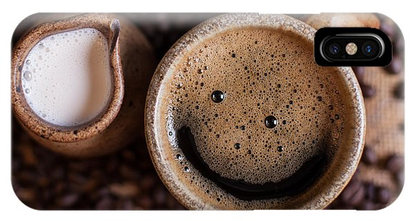 Coffee With A Smile IPhone Case