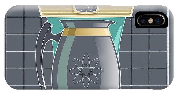 Coffeemaid -aqua IPhone Case