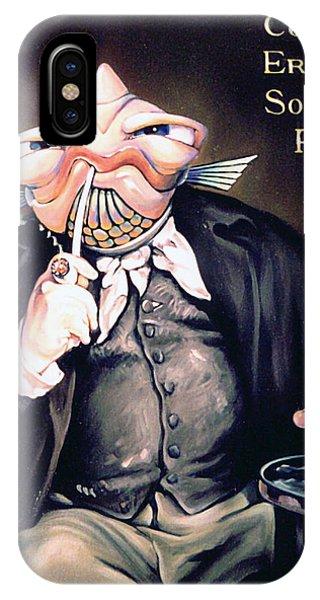 Smoke Fantasy iPhone Case - Cogito Ergo Sum Sortum Fishus by Patrick Anthony Pierson