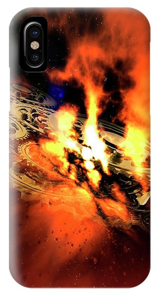 Cogs And Flames Phone Case by Victor Habbick Visions/science Photo Library