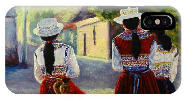 Colca Valley Ladies, Peru Impression IPhone Case