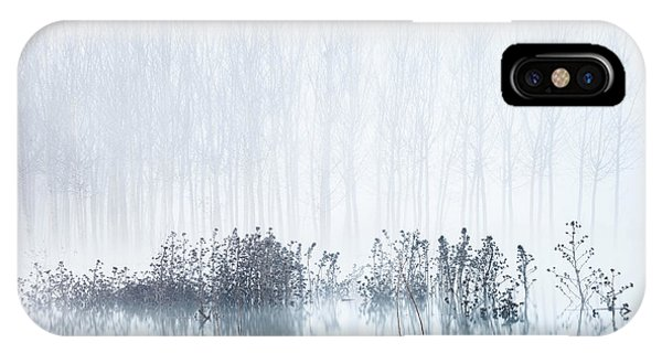 Serenity iPhone Case - Cold & Foggy Morning In The Swamp by David Frutos
