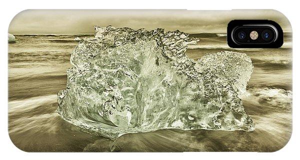 Black Sand iPhone Case - Cold Days by Greg Wyatt