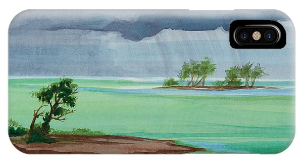 Michelle iPhone Case - Cold Front In Islamorada Watercolor Painting by Michelle Wiarda-Constantine