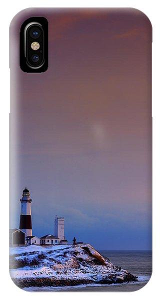 Navigation iPhone Case - Cold Morning At Montauk Point by Rick Berk