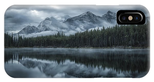 Reflection iPhone Case - Cold Mountains by Michael Zheng