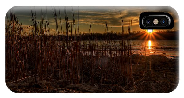 Cold Winter Sunset IPhone Case
