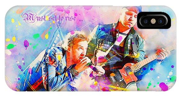 Coldplay iPhone Case - Coldplay Lyrics by Rosalina Atanasova