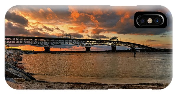 Coleman Bridge At Sunset IPhone Case