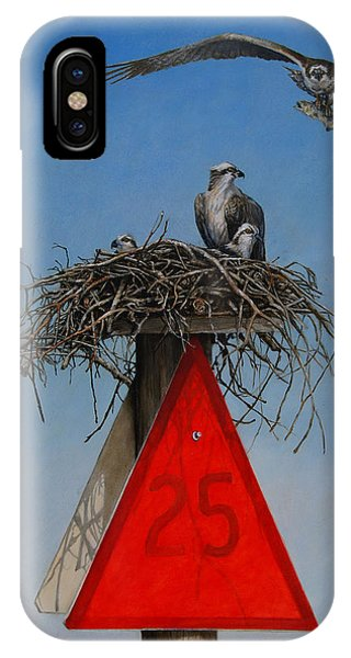 Osprey iPhone Case - Collaborative Effort by Dreyer Wildlife Print Collections