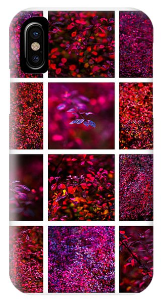 Violet Flame iPhone Case - Collage Autumn Flames by Alexander Senin