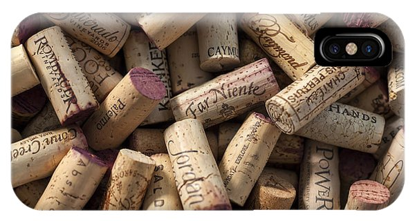 Cocktail iPhone Case - Collection Of Fine Wine Corks by Adam Romanowicz
