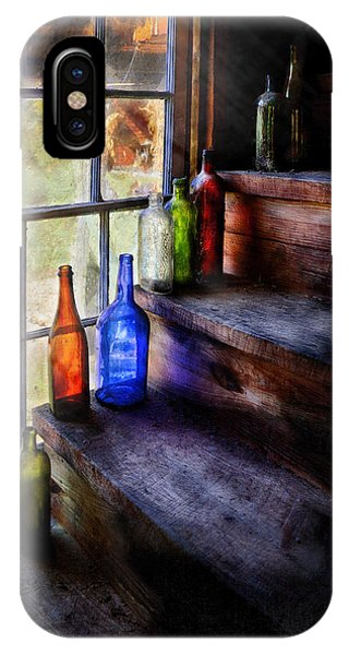 Savad iPhone Case - Collector - Bottle - A Collection Of Bottles by Mike Savad