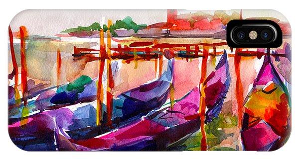 iPhone Case - Coloful Venice Boats Painting by Svetlana Novikova