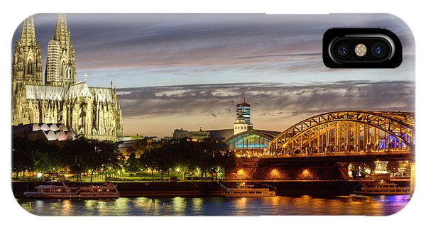 Cologne Cathedral With Rhine Riverside IPhone Case