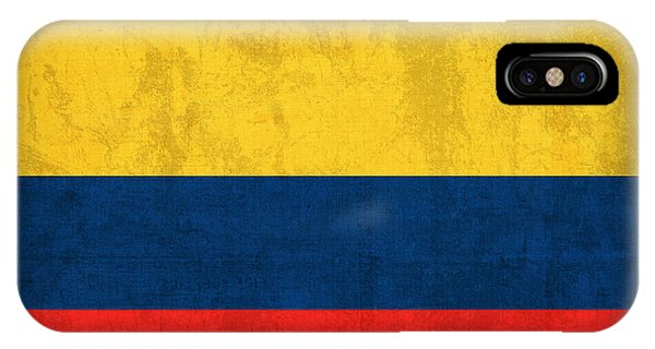 Colombian iPhone Case - Colombia Flag Vintage Distressed Finish by Design Turnpike