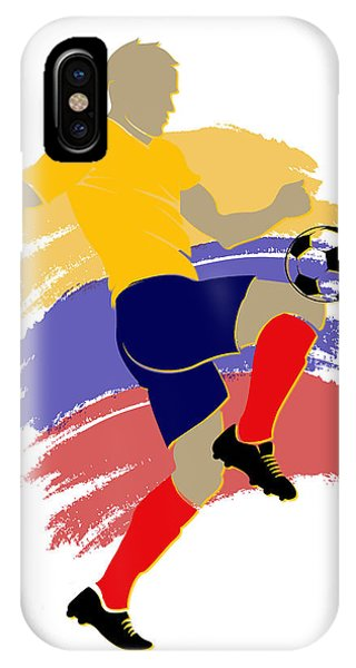 Colombia iPhone Case - Colombia Soccer Player by Joe Hamilton