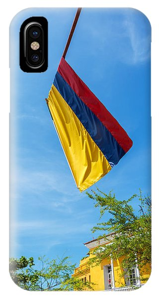 Colombia iPhone Case - Colombian Flag And Blue Sky by Jess Kraft