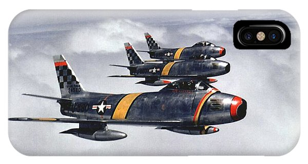 Colonel Ben O. Davis Leads F 86 Sabres Over Korea Upsized Phone Case by L Brown