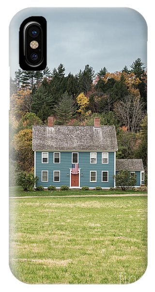 New Hampshire iPhone Case - Colonial Home by Edward Fielding