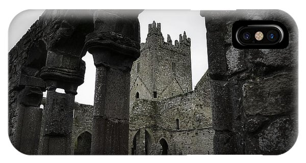 Colonnade And Tower Of Jerpoint Abbey IPhone Case