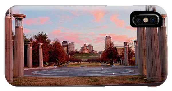 Capitol Building iPhone Case - Colonnade In A Park, 95 Bell Carillons by Panoramic Images