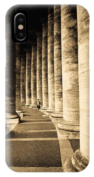 Colonnade In Piazza San Pietro Vatican IPhone Case