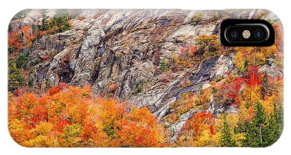 Color And Granite In Crawford Notch IPhone Case