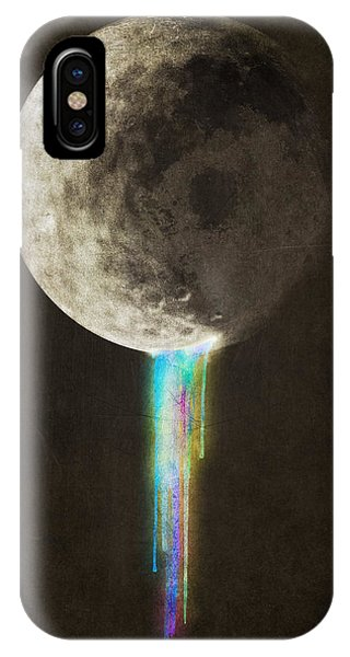 Space iPhone Case - Color Bleed by Eric Fan