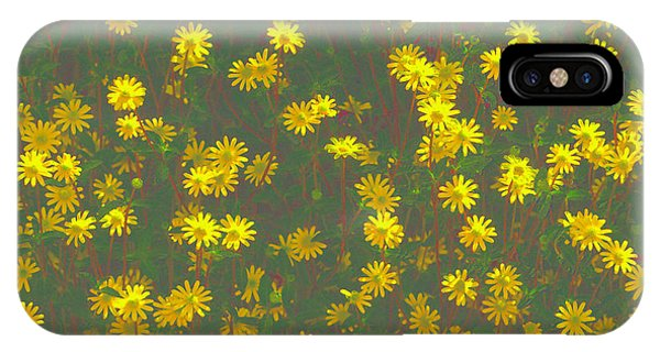 Color Flower Wall IPhone Case