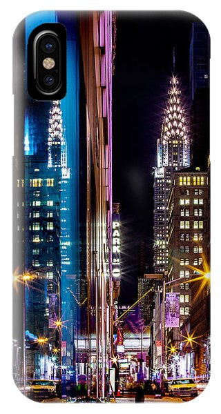 Famous Artist iPhone Case - Color Of Manhattan by Az Jackson