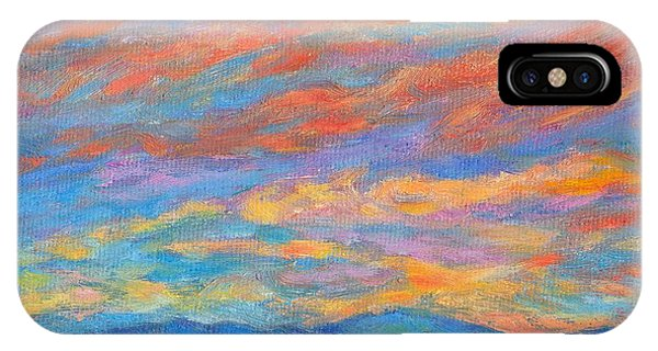 IPhone Case featuring the painting Color Ripples Over The Blue Ridge by Kendall Kessler