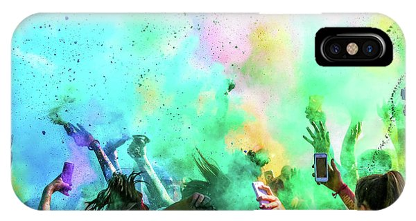 Crowd iPhone Case - Color Run by Eunice Kim