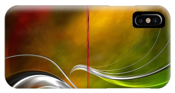 Color Symphony With Red Flow 2 IPhone Case