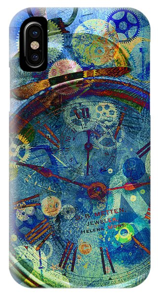 IPhone Case featuring the digital art Color Time by Fran Riley