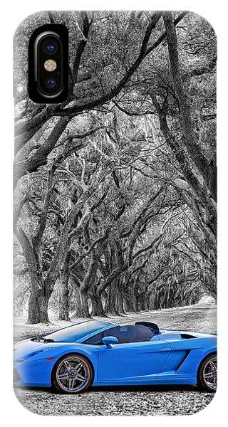 Steve Harrington iPhone Case - Color Your World - Lamborghini Gallardo by Steve Harrington