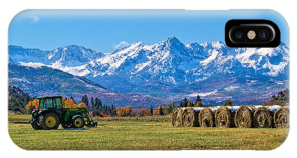 Colorado Hayfield IPhone Case