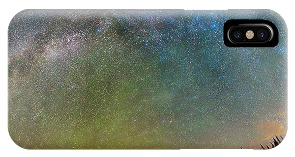 Indian Peaks Wilderness iPhone Case - Colorado Indian Peaks Milky Way Panorama by James BO Insogna