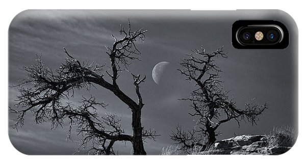 Half Moon iPhone Case - Colorado National Monument Moonrise by Darren  White