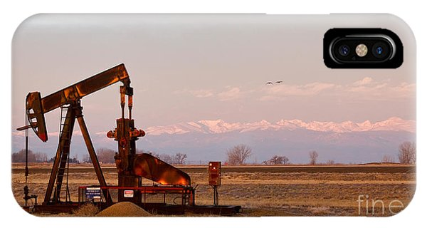 Colorado Oil Well Panorama IPhone Case