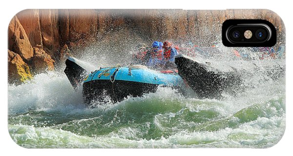 Grand Canyon iPhone Case - Colorado River Rafters by Inge Johnsson