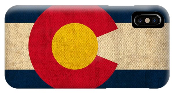 Flag iPhone Case - Colorado State Flag Art On Worn Canvas by Design Turnpike