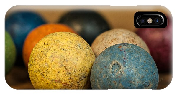 Colored Clay Marbles IPhone Case